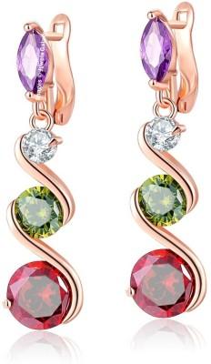 Jewels Galaxy Luxuria Swarovski Crystal Alloy Drops   Danglers Jewels Galaxy Earrings