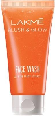 Lakme Blush and Glow Peach Gel Face Wash, 50g