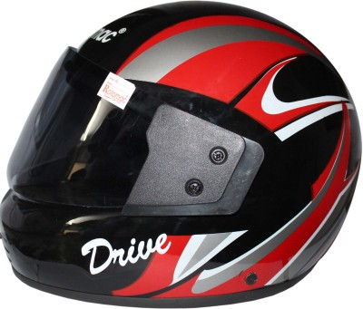 ROTOMAC Full face Visor Motorbike Helmet(Black)  available at flipkart for Rs.560