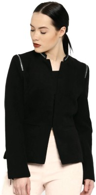 All About You Full Sleeve Solid Women Jacket at flipkart