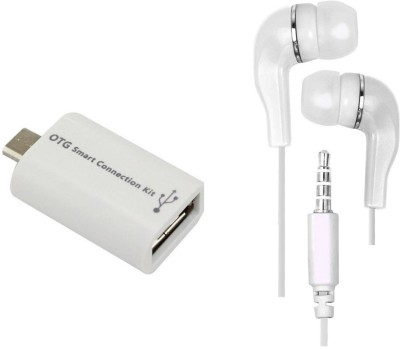 Mocell Headphone Accessory Combo for Samsung Galaxy On7 Pro White