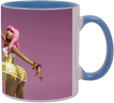 Arkist nicki minaj barbie doll Blue Ceramic Mug(340 ml)  available at flipkart for Rs.499