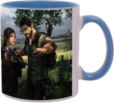 Arkist the last of us video game ps3 x Blue Ceramic Mug(340 ml)  available at flipkart for Rs.499