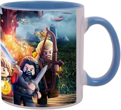 Arkist lego the hobbit 2014 video game x1 Blue Ceramic Mug(340 ml)  available at flipkart for Rs.499
