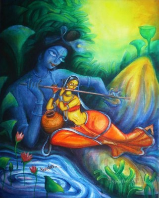 Radha krishna paintings Beautiful 3 poster on fine art paper 13x19 Fine Art Print(19 inch X 13 inch, Rolled)  available at flipkart for Rs.196