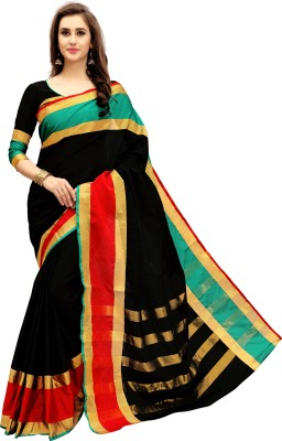 Glory Sarees Woven Chanderi Cotton Saree(Multicolor)