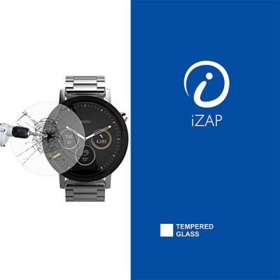iZAP Tempered Glass Guard for Moto 360 PLUS 42mm U2(Pack of 1)