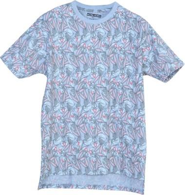 WINK ROBO Printed Men & Women Round Neck Multicolor T-Shirt