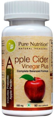 Pure Nutrition Apple Cider Vinegar Plus, 90 Veggie Capsules Unflavoured
