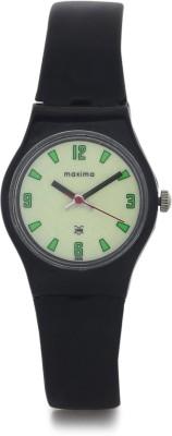 Maxima 03434PPLW Aqua Regular Analog Yellow Dial Women's Watch