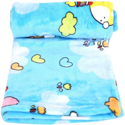 Goodstart Cartoon Crib Blanket(Microfiber, Blue) at flipkart