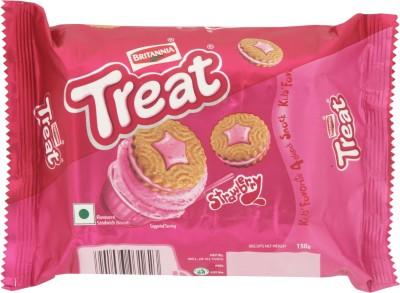 Britannia Treat Strawberry Cream Biscuits(150 g)