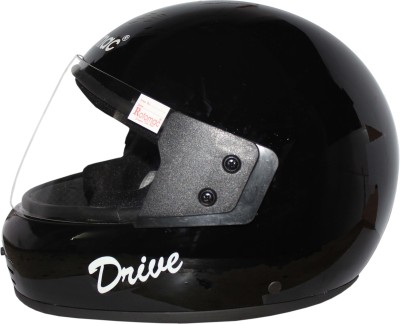 ROTOMAC Full Face Plain Visor Motorbike Helmet(Black)  available at flipkart for Rs.560