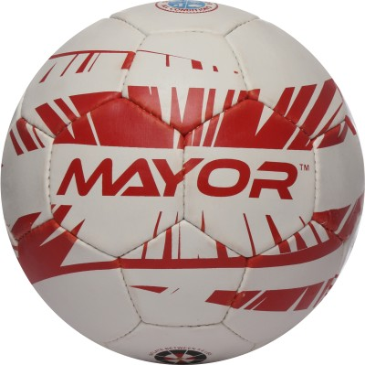 Mayor Contra England Football - Size: 5(Pack of 1, White, Red)