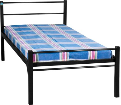 Delite Kom Oris Black Metal Single Bed(Finish Color -  Black)