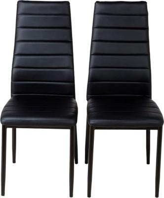 Urban Ladder Zella Solid Wood Dining Chair(Set of 2, Finish Color - Teak)