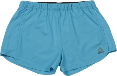 REEBOK Short For Girls Sports Solid Polyester(Blue, Pack of 1)