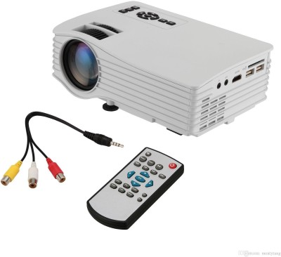IBS wifi 130 inch, 20000 hours LED Lamp AV/VGA/USB/SD/HDMI Portable Projector(White, Black)