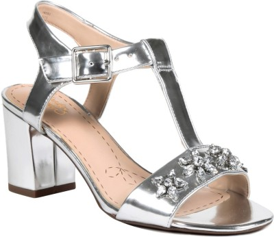 Clarks Women SILVER METAL Heels at flipkart