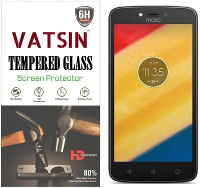 Vatsin Tempered Glass Guard for Motorola Moto C Plus(Pack of 1)