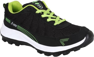 Aero Power Play Running Shoes For Men(Green, Black)  available at flipkart for Rs.499