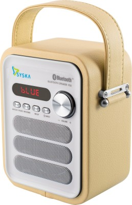 SYSKA P50 Portable Bluetooth Mobile/Tablet Speaker(Yellow, Stereo Channel)