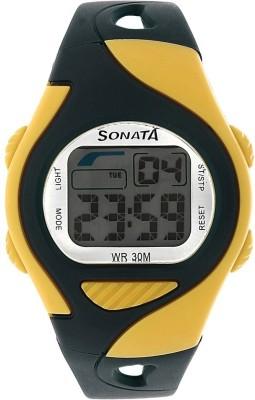 Sonata 87011PP04 Super Fibre Digital Watch For Men