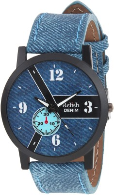 Relish RE-S8101BD SLIM Demin Analog Watch For Boys