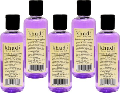 Khadi Herbal Lavender & Ylang Body Wash(1050 ml, Pack of 5)  available at flipkart for Rs.675