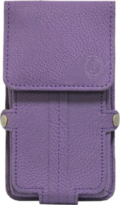 JoJo Pouch for Intex Aqua Fish(Purple, Artificial Leather)