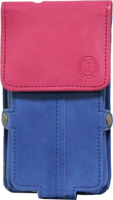 JoJo Pouch for LG Optimus L5 II Dual E455(Blue, Artificial Leather)