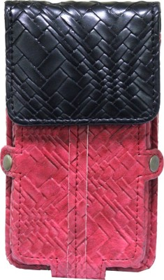 JoJo Pouch for Micromax Canvas Fun A63(Wine Red, Artificial Leather)