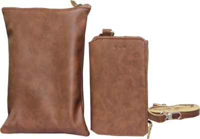 JoJo Wallet Case Cover for HP Slate 6 VoiceTab II(Brown, Artificial Leather)