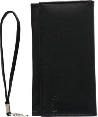 J Flip Cover for Intex Aqua Fish(Black, Artificial Leather)