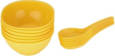 Jaypee Le Dinner Set Soup Bowl Plain, Yellow Pack of 12 Dinner Set(Polypropylene)  available at flipkart for Rs.189