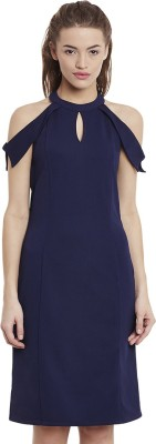 Miss Chase Women Bodycon Dark Blue Dress