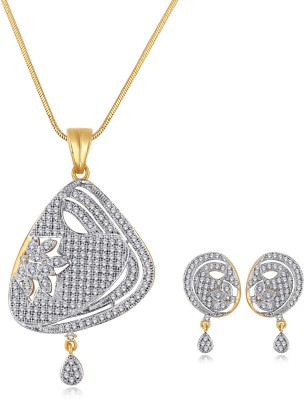 Spargz Brass Jewel Set(Gold) at flipkart