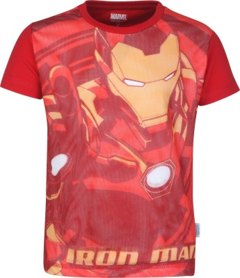 Avenger Boys Graphic Print Cotton T Shirt(Red, Pack of 1)