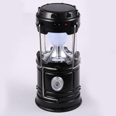 Wonder World® Multifunction Solar Charging Lights USB Power Bank waterproof Torch Lamp Camping LED flashlight torch(Black)