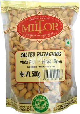 MilTop Salted nuts Pistachios(500 g, Pouch)