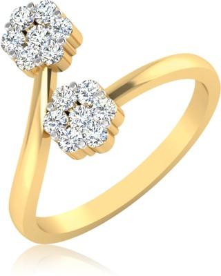 IskiUski The Nabha Ring 18kt Swarovski Crystal Yellow Gold ring