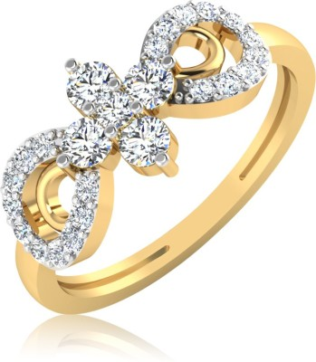 IskiUski The Tarka Ring 18kt Swarovski Crystal Yellow Gold ring