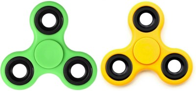 Lata Lata Set of 2 Fidget Spinner Green   Yellow Green, Yellow Lata Spinning   Press n Launch Toys