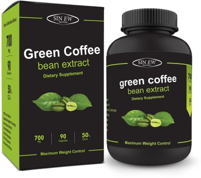 Sinew Nutrition Green Coffee Beans Extract 700 mg (90 Pure Veg Capsules), 100 % Pure & Natural Weight Loss & Appetite Suppressant Supplement(90 No)