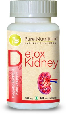 Pure Nutrition Detox Kidney 500mg Supplement (60 Capsules)
