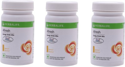 Herbalife Afresh Energy Drink Mix (Lemon, 50GM, Pack of 3)