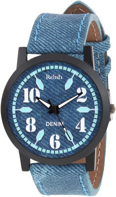 Relish RE-S8102BD SLIM Demin Analog Watch For Boys