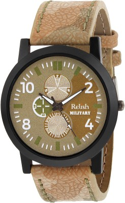 Relish RE-S8092BA SLIM Army Analog Watch For Boys