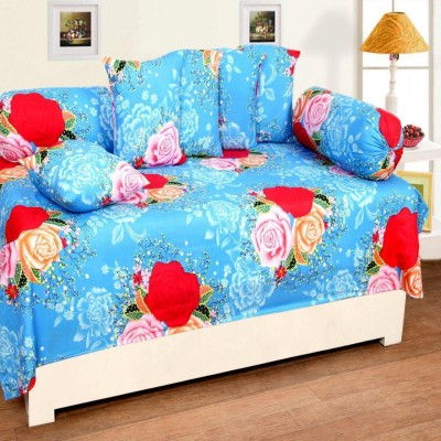 INDIANONLINEMALL Polycotton Floral Diwan Set  available at flipkart for Rs.385
