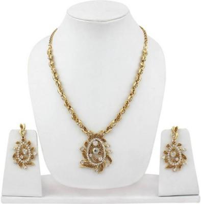 Jewels Nation Rampwalk Gold-plated Diamond Alloy Pendant Set